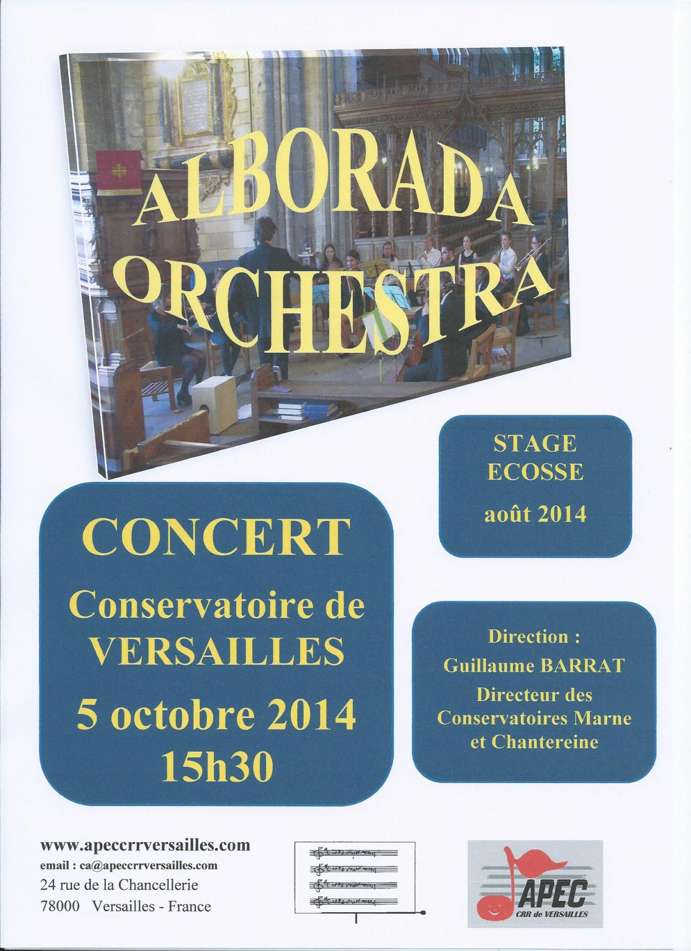 Concert Alborada Ecosse 5 octobre